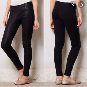 Anthropologie leather leggings size Large